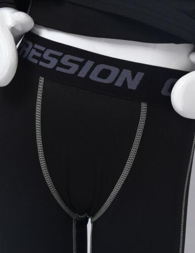 Unisex Kids Gymnastics Shirt Top Leggings Suit Compression Hockey Training Sport