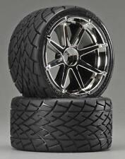 HPI 4729 Mounted Phaltline Tires / Blast Wheels Chrome (2) Savage X / XL / Flux