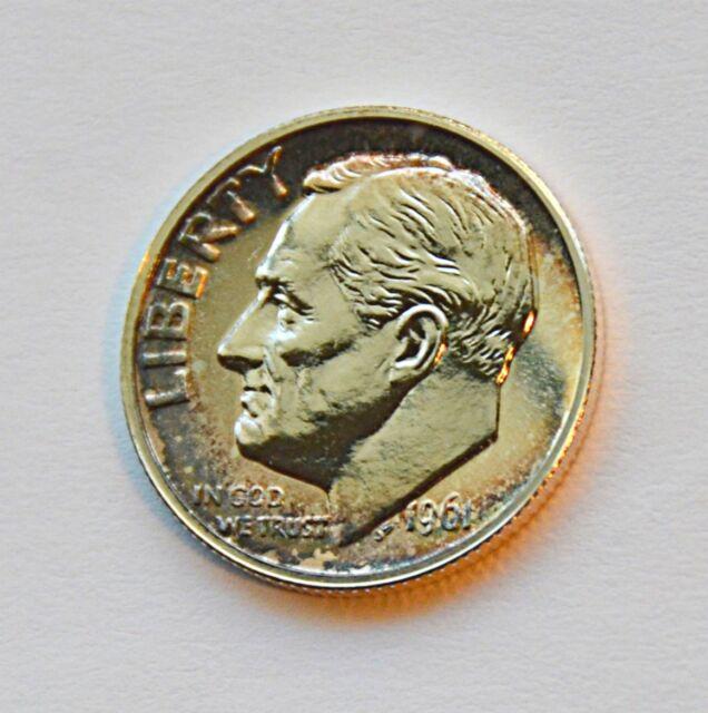PR67 1961 90/% SILVER ROOSEVELT DIME PCGS GRADED 10C PROOF COIN LIBERTY US PR 67