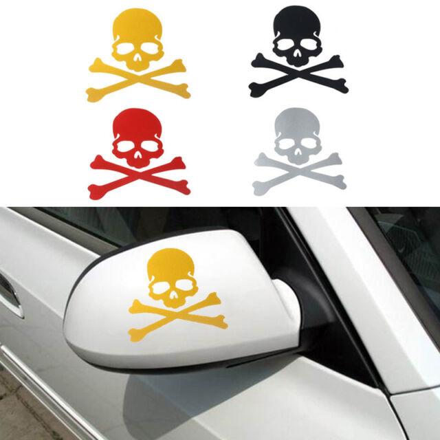 Skull Pattern Design 3D Decoration Sticker For Car Side Rearview Mirror Decals