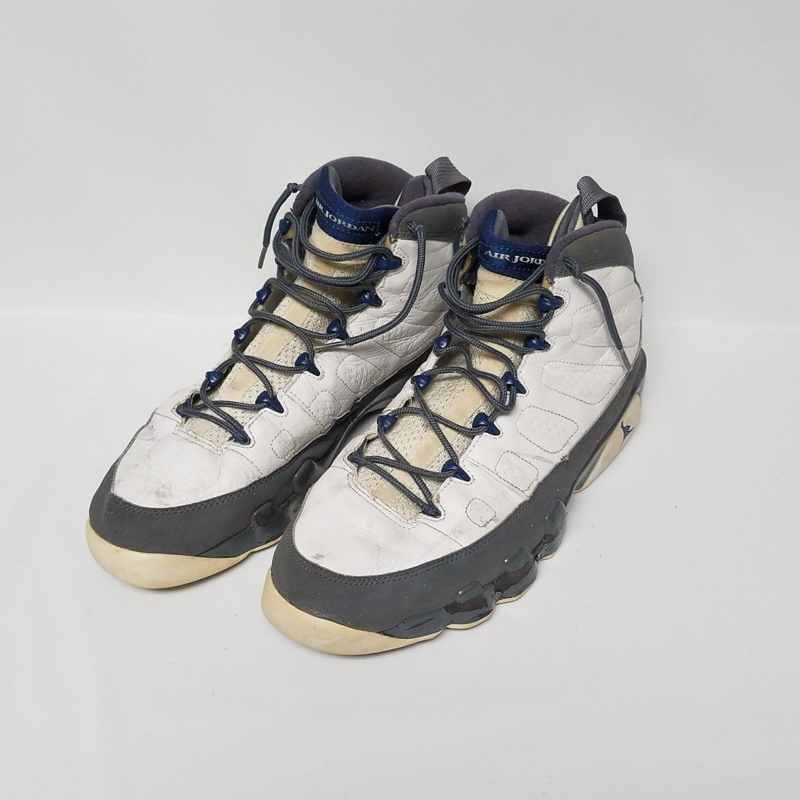 Nike air jordan 9 ix retro bianco blu, scarpe 302370-141 francese flint gray dimensioni 13