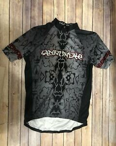 CANNONDALE-BLACK-AND-GRAY-ZIP-UP-JERSEY-Cycling-Bike-SZ-L