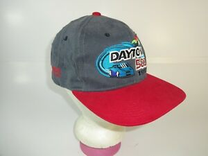 VTG-Daytona-500-Winston-Cup-Hat-Adjustable-back-Grey-Cap-NASCAR-Racing-90s-1997