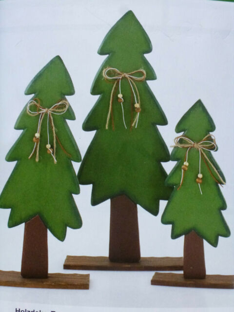 Holz Deko Weihnachten.Holz Deko Tanne Weihnachten Set Baum Dekoration Fensterdeko Tischdeko Advent