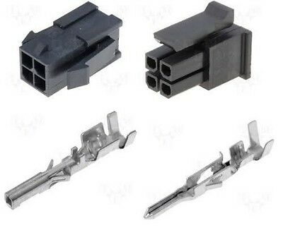 High Quality 4 Way Circular Softshell Male /& Female Connector Kit with Terminals