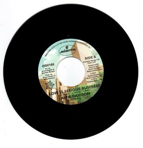 ALFIE DAVISON Love Is A Serious Business NEW NORTHERN SOUL 45 (OUTTA SIGHT) 70s