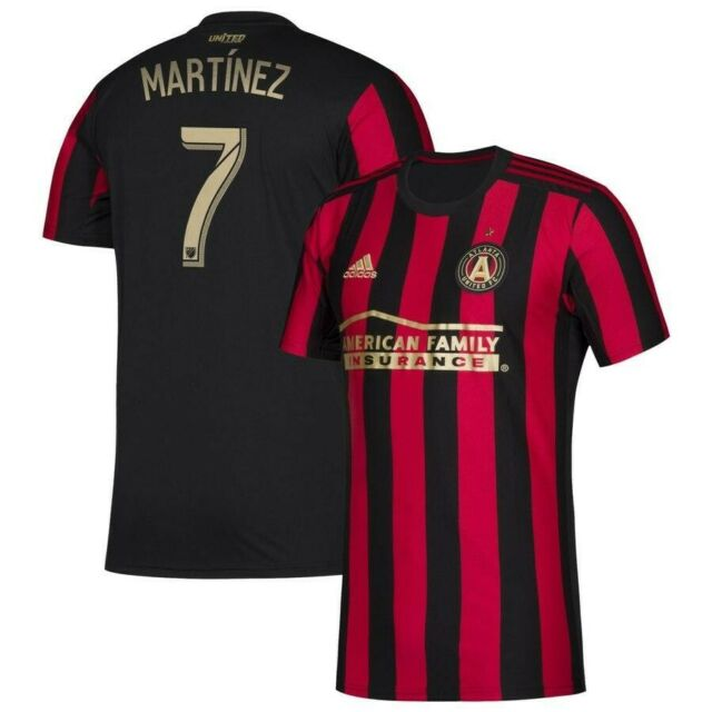 size 40 c1dcf 931d5 Atlanta United FC MVP Josef Martinez #7 Red and Black Stripes Home Jersey XL