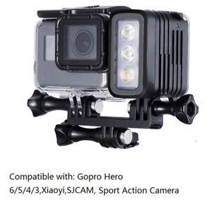 Immersione-impermeabile-30M-LUCE-LED-lampada-flash-per-GoPro-Hero-6-5-Nero-SJCAM-XiaoYi