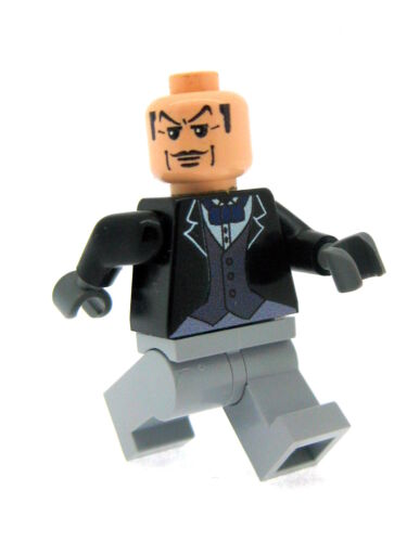 Custom Designed Minifigure Alfred The Butler Printed On LEGO Parts