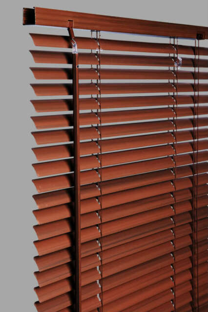 New Wood Wooden Grain Effect PVC Venetian Blind Blinds Easy Fit, 10 Sizes