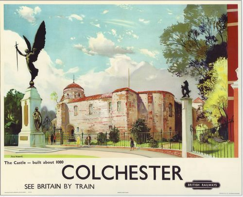 1950 British Railway Poster Colchester A3 A2 Print