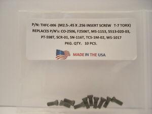 10-Pieces-THFC-006-Insert-Screw-CO-2506-MS-1153-5513-020-03-PT-598T