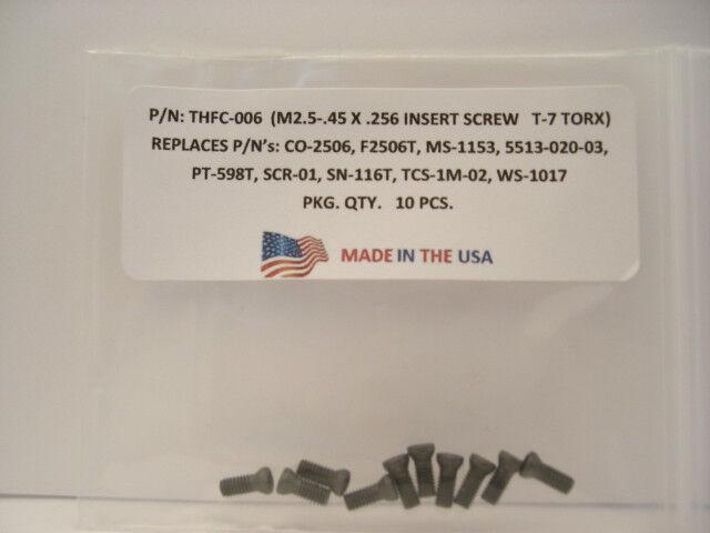 10 Pieces THFC-006 Insert Screw: CO-2506 .. MS-1153 ..5513-020-03 .. PT-598T ..