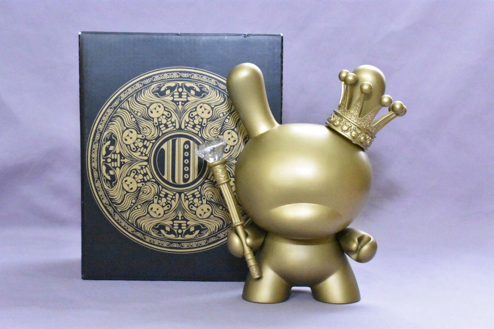 RARE    Kidrobot  8  oro re TRISTAN EATON 2012 10 YEAR ANNIVERSARY Dunny  consegna gratuita e veloce disponibile