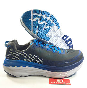 big sale cc6da 548fd Details about NEW! HOKA ONE ONE Bondi 5 Men's (D Medium) Running Shoes Blue  White sc1