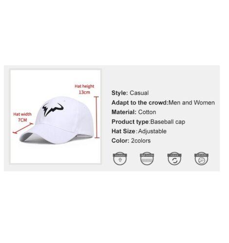 Baseball Cap Fashionable Rafael Nadal Tennis Player No Structure Dad Hat 2019