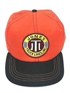 edf7c7fe6 Details about VTG JTL Jones Truck Lines INC 70s 80s Hunter Orange Trucker  Hat Cap Snapback USA