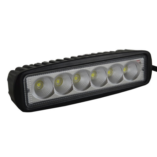 4x18w 6inch Flood LED Work Lights Bar Offroad Fog Car Driving Truck Suv UTE 4WD