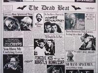 Zombie Newspaper Halloween Spooky Timeless Treasures Fabric Yard