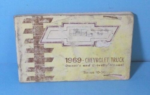 69 1969 Chevrolet Truck 10//20//30 Series owners manual