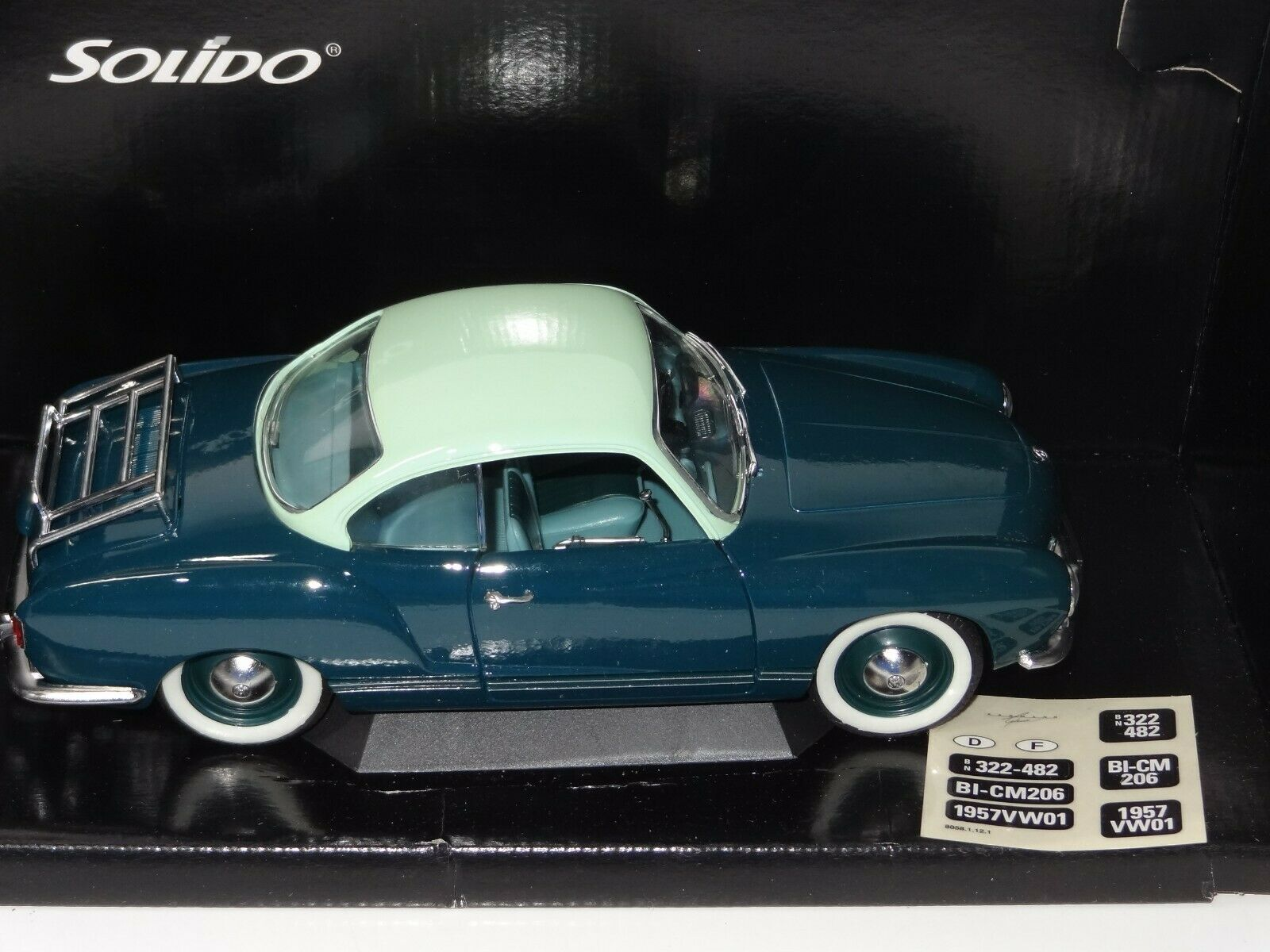 (W) SOLIDO 1 18 VW VOLKSWAGEN KARMAN GHIA - 8061 mint boxed
