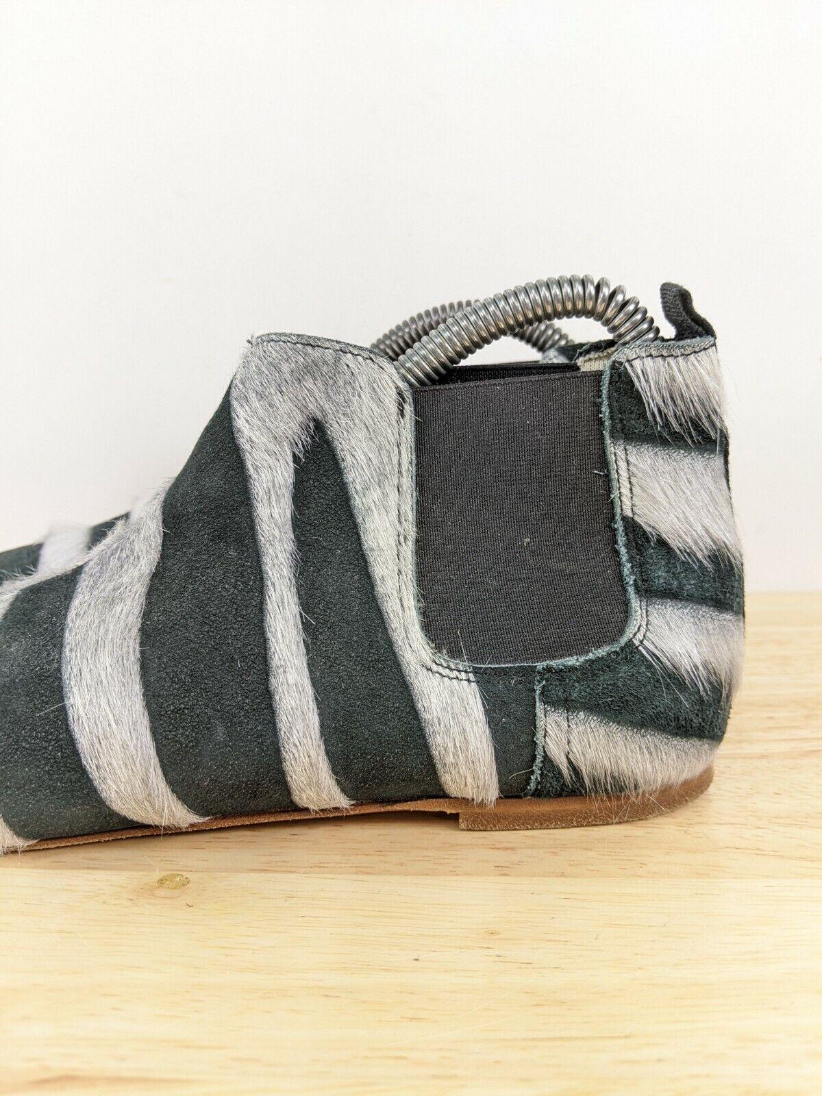 Collection Privee Black Zebra Pony Hair Chelsea B… - image 2