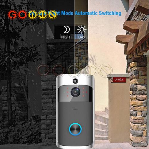 Smart Video Wireless WiFi Door Bell IR Visual Camera Record Security System Kit