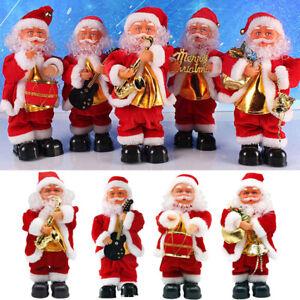 DANZA-musicale-animato-Babbo-Natale-Natale-BAMBOLE-FIGURE-Home-Decor