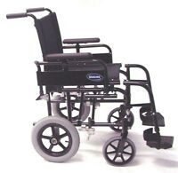 Invacare Coast-lite Transit \ Transport Wheelchair 16x16 Seat W\ Cushion