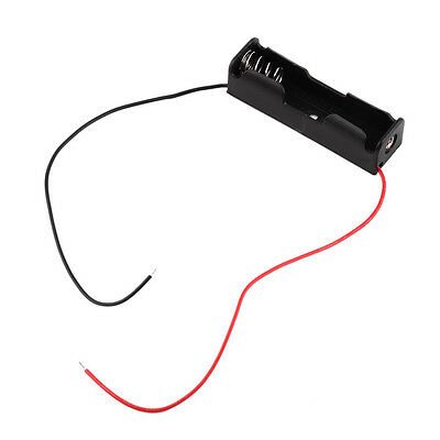 Plastic Battery Storage Case Box Holder for 1-AA Battery with 6'' Cable Lead GK