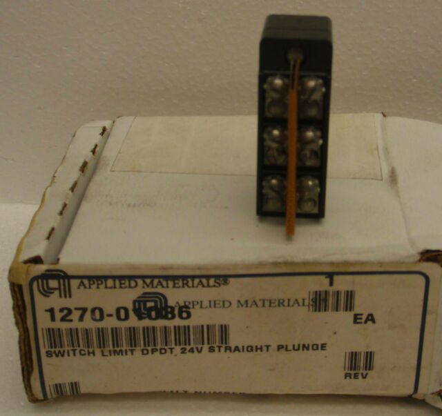 Applied Materials 1270-01036 Switch Limit DPDT 24V Straight Plunge DT-2RS1-A7