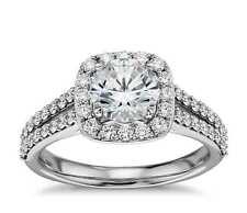 Round Cut Cubic Zirconium 18K Gold Plating Wedding Bridal Engagement Ring CZ Dia