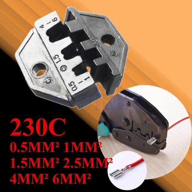 0,5-6mm² 230C Crimpzange für unisolierte Kabelschuhe von Quetschzange Ratsche GE