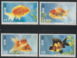129-CHINA-HONG-KONG-1993-GOLDFISH-SET-4V-MNH