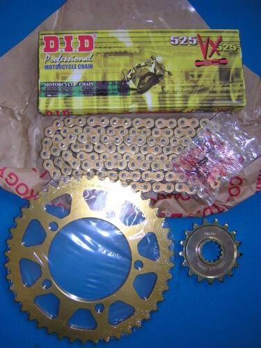 New Sport 09-11 DID VX Chain /& 525 Talon Sprocket Kit BMW S1000RR