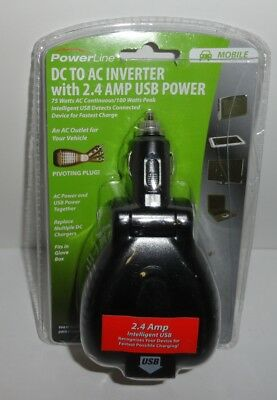 Powerline DC To AC Inverter With 2.4 Amp USB Power 90384