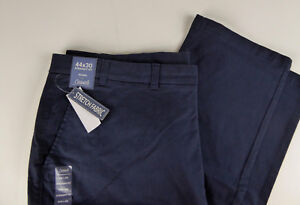 Roundtree /& Yorke Casuals Cotton Stretch Chinos Straight Fit Pant NWT Flat Front