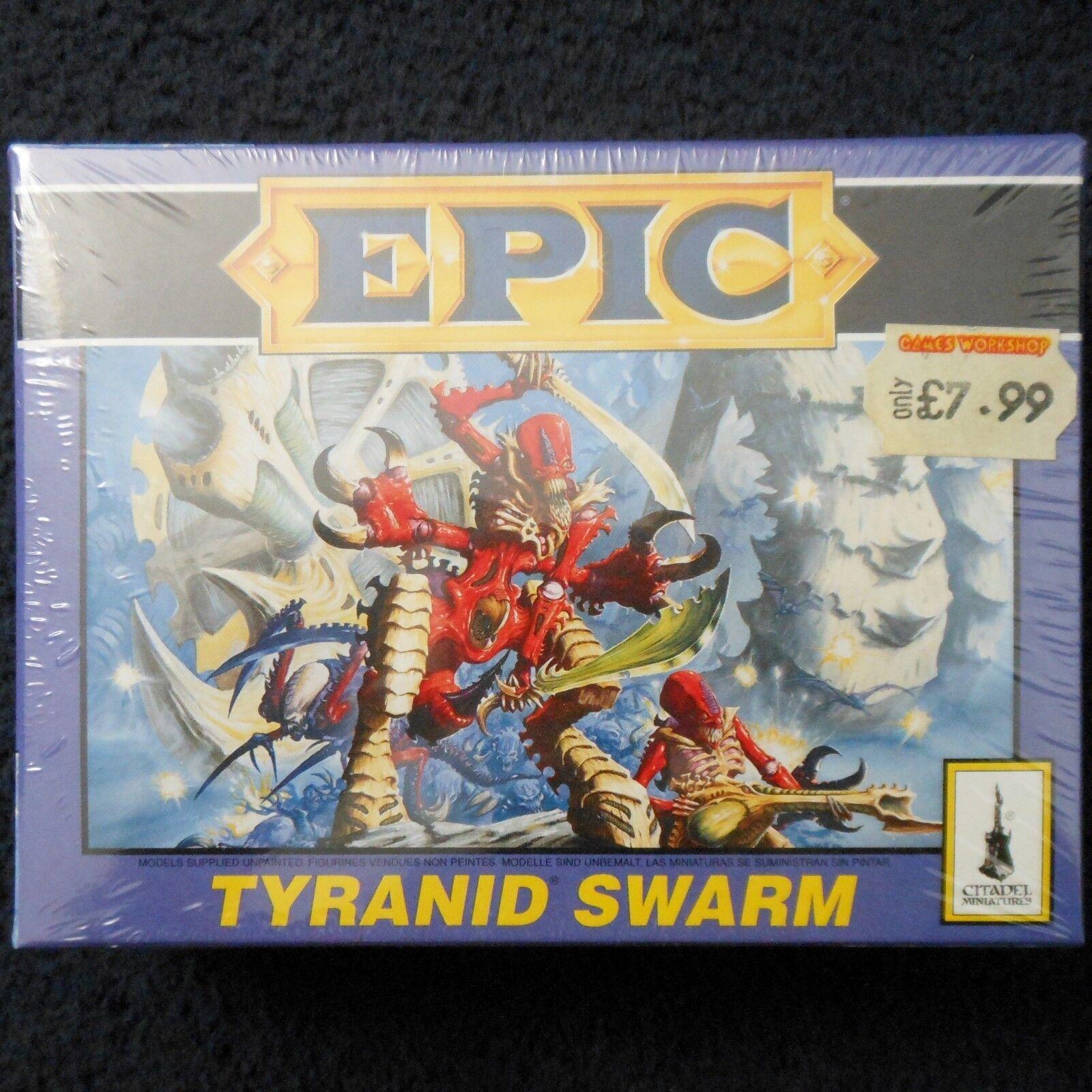 1995 Epic Tyranid Swarm spelverkstad Warhammer 6mm 40K Lictor Genestealer MIB
