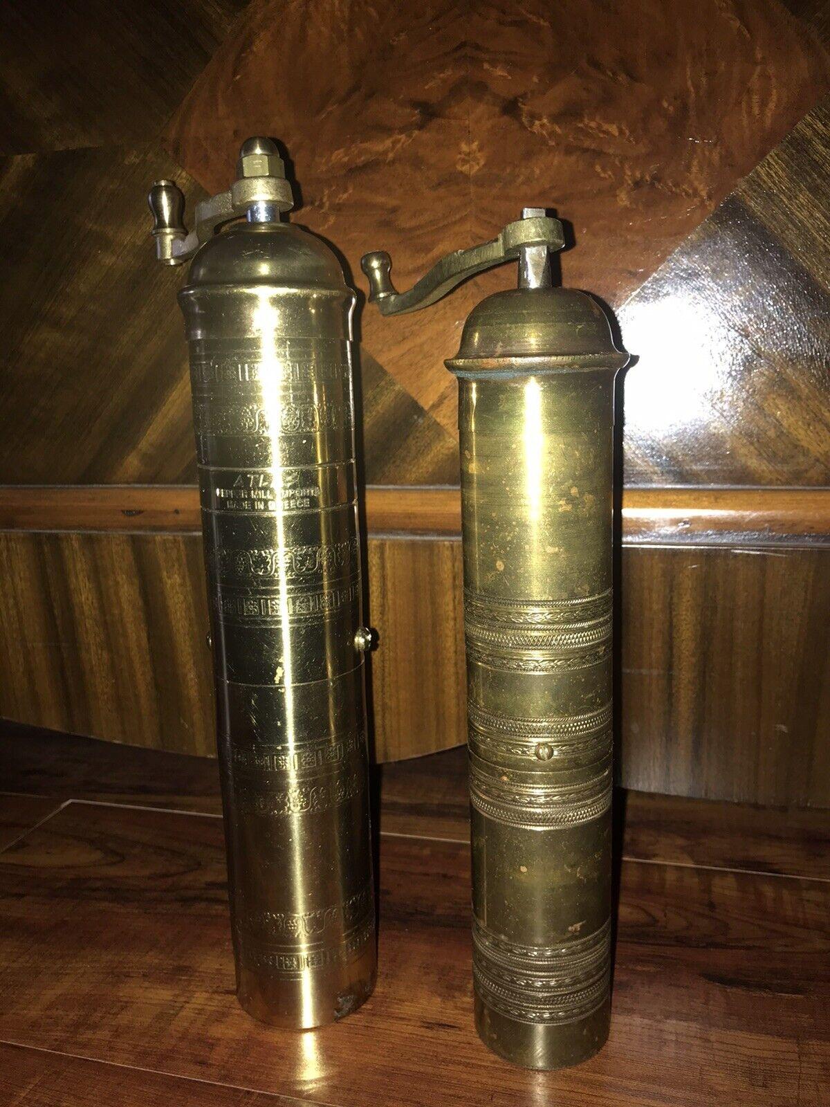 Vintage Brass Pepper Mill Grinder Made In Greece For Sale Online Ebay