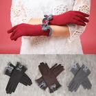 Lady Winter Touch Screen Gloves Bowknot Full Finger Warm Mittens Women