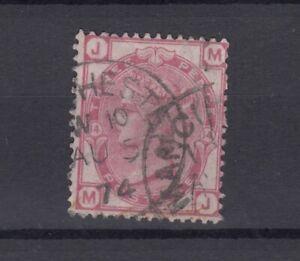 GB QV 1873 3d Rosa SG143 placa 14 Fine Used JK5555