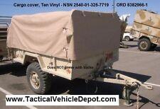 M101 M101A1 M101A2 M101A3 Trailer Top Cargo Cover Tarp Tan Vynil -  8382966-1