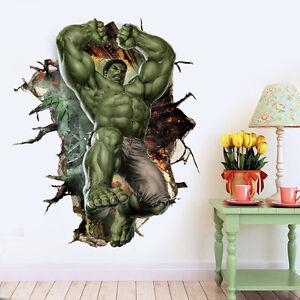 Details Zu Hulk Kommen 3d Smash Marvel Wand Aufkleber Kinder Zimmer Tattoo Helden Sticker