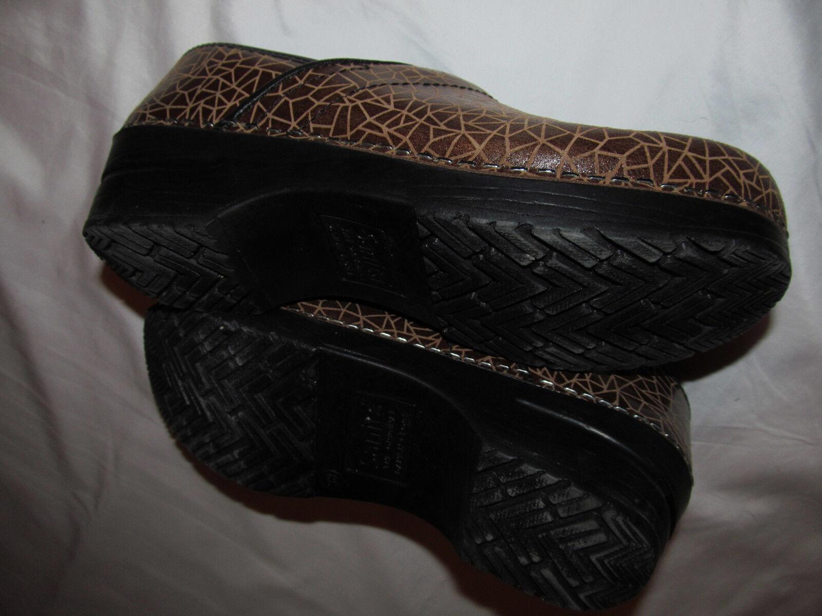 SANITA PRO texturot geometric geometric geometric giraffe polished leather clogs schuhe 38 7.5 m aef1ff