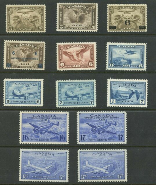Canada 1928-48 Air Mail & Special Delivery issue set #C1-C9, CE1-CE4 MNH