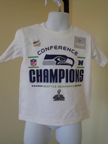 NFL Seattle Seahawks NFC Champions Kleinkinder Größe 2T Hemd Fußball Neu