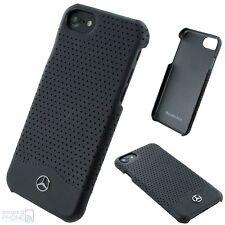 "Mercedes iPhone 7 4,7"" Echtleder Back Case Hard Cover Schutz Hülle Tasche black"