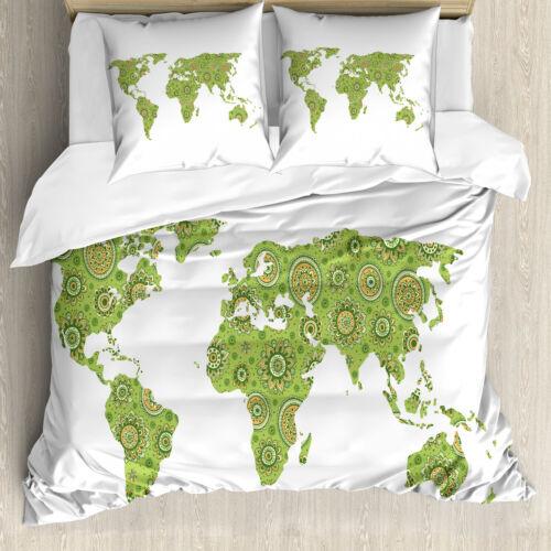 Carte du monde Linge De Lit Set ethnique carte souple Microfaserstoff