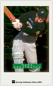 1996 NZ High Velocity Cricket Trading Card Master Blaster #6: Mark Greatbatch