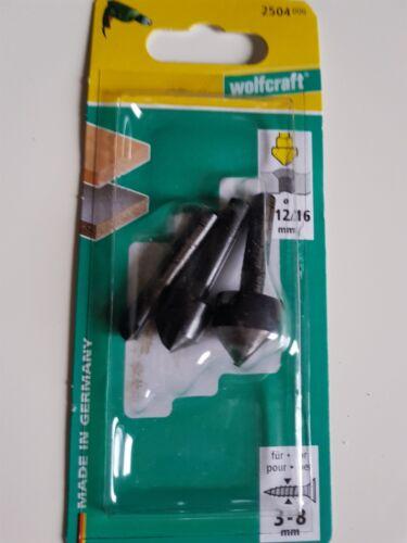 16 mm für Holz Kunststoffe Wolfcraft 3x Senker ø 6 12 NE-Metalle 2504